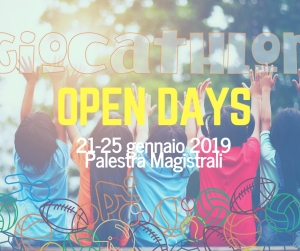 open days giocathlon gennaio 2019